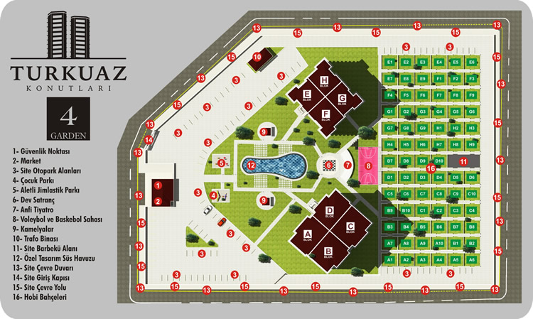 Turkuaz 4 Garden Site Plan
